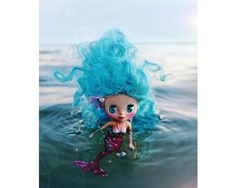 mermaid blythe print aceo size MINI MERMIE