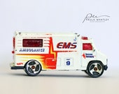 toy ambulance, boys nursery art, boys nursery decor, boys room decor, boys room art, man cave art, EMT gift, ambulance art, ambulance photo