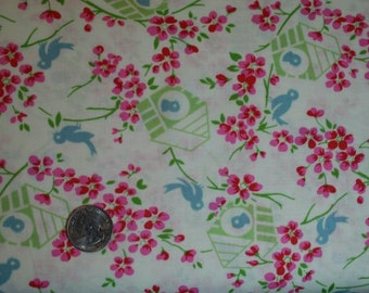 Tanya Whelan Sugar Hill Birdy in Ivory / pwtw047-ivory quilt cotton fabric By the Yard