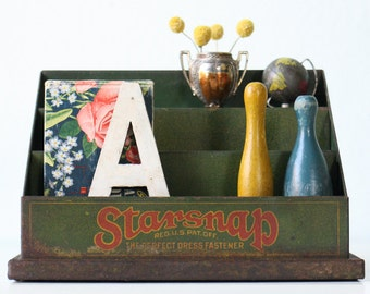Vintage Starsnap Display, Store Display Cabinet, The Perfect Dress Fastener