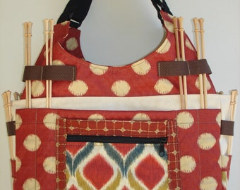 Large Knitting/Crochet Tote Bag-BOMBAY