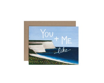 You and Me like Coast and Sea Blank Card - Greeting Card - Love Card - Friendship Card - Anniversary Card - Wedding Card - Just Because Card