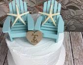 Starfish Cake Topper, Starfish, Beach Wedding, Cake topper