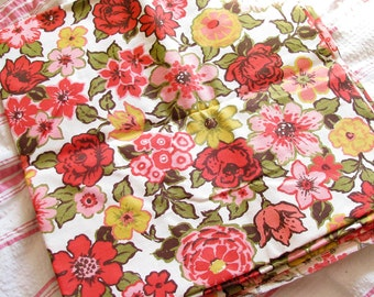 Funky Floral...Vintage 60s-70s Retro Floral Upholstery Fabric