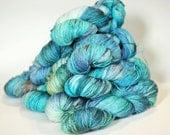 AQUARELLE #1 - LIGHTER, blue label hand dyed sock yarn