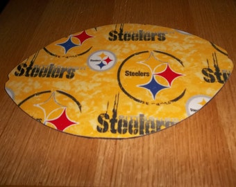 NFL, Mouse Pad, Pittsburgh Steelers, Gift, Desk Accessory, Mouse Pads, Office Decor, Mousepad, Handmade, Football Shape, Computer Mouse Pad