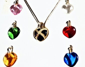 Suzanne Somers Sterling Silver Hearts Necklace, Vintage Ladies Jewelry