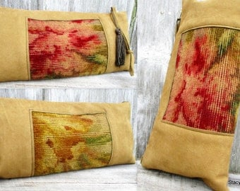 Rustic Victorian Faded Carpetbag Clutch by Stacy Leigh