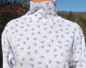 vintage 80s turtleneck SNOWMAN christmas holiday preppy white ski long sleeve t-shirt Large Medium women