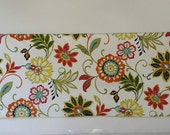 Two Custom Floral Window Valance