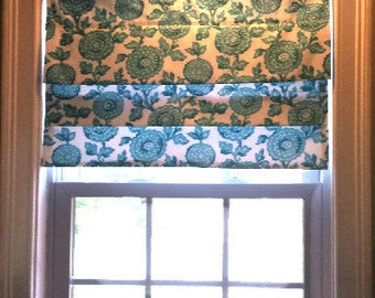 Faux Roman Shade/Top Treatment, Stationary Valance, Mock Roman, Nursery Shade/Choose width/length/Inside or Outside Mount, Easy to Install