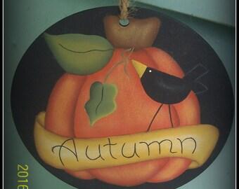 Fall Wood Peg Hanger Ornament-Pumpkin Home Decor Decoration