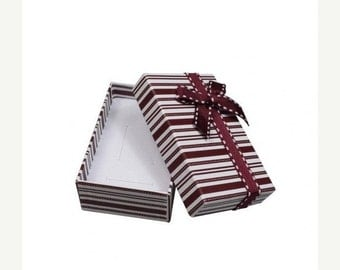 END of Year SALE 6 Pack Red and White Striped White Foam Insert 32 Size Boxes