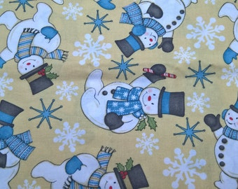Happy Snowman - fat quarter