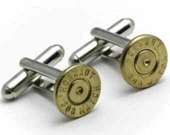 Cufflinks - Hornady 308s Bullets