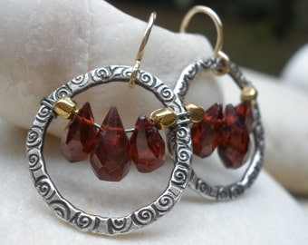 Garnet Holiday Earrings
