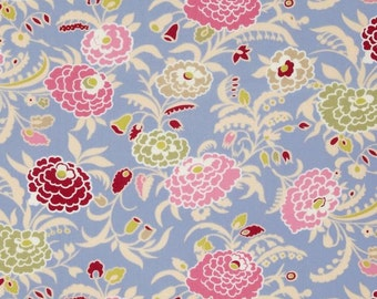 1 YARD - Amy Butler Fabric Sale, Gypsy Caravan Collection, Mum in Periwinkle  - SALE