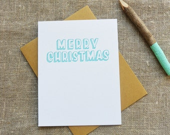 Warm Thoughts Letterpress Christmas Card - Merry Christmas - WMH 383