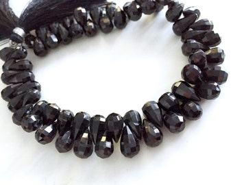 1/2 strand Black Spinal tear drops