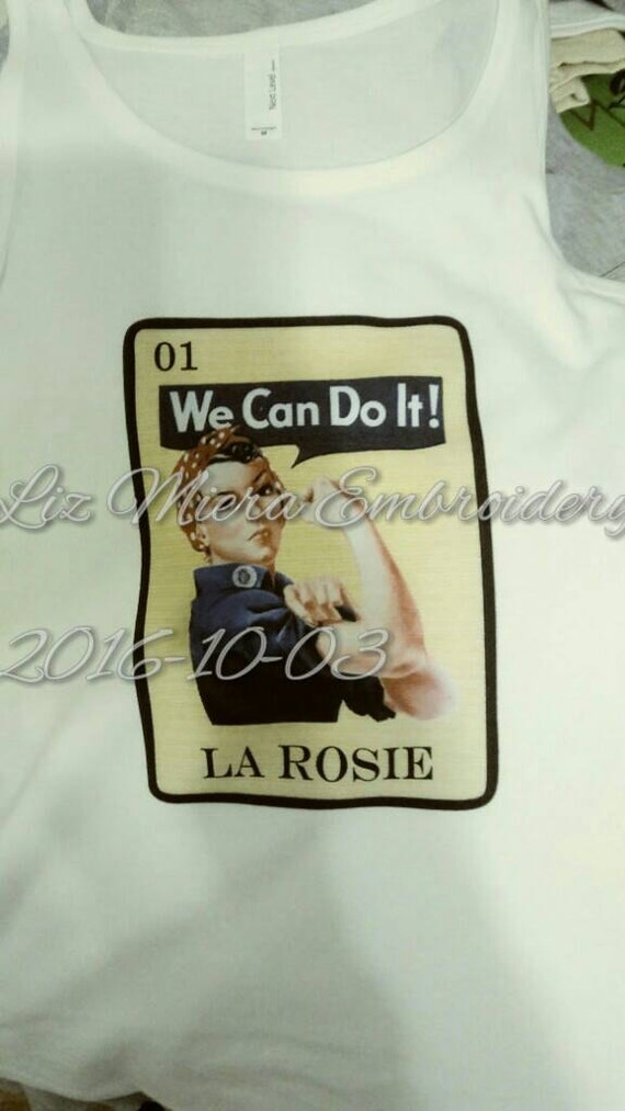 Loteria La Rosie the rivetor tank top size med.
