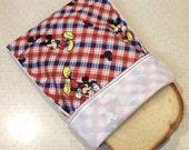 Reusable cloth snack sandwich napkin bag set - The Mouse 4 pcs