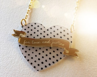 FOR LOVE AND Justice N2 laser cut acrylic necklace sailor moon