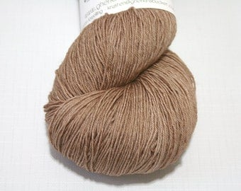 Hand Dyed Artisan Yarn, Tonal Kettle Dyed Heavy Lace Yarn, Semisolid SW Merino Yarn, Long Stride (750yds) - Banter colorway