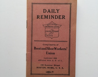 Little Vintage Daily Reminder Union Book