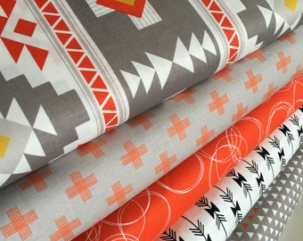 Tribal fabric, Four Corners fabric bundle by Riley Blake, Arrow fabric, Southwest fabric, Bundle of 5, Choose the Cut