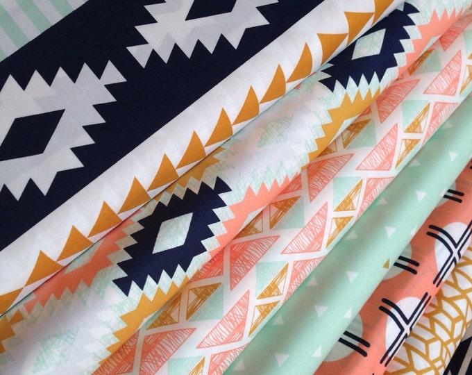 Fabric by the Yard fabric, Arizona fabric, Rustic Baby Quilt fabric, Hygge fabric, Art Gallery Fabric- Fabric Bundle of 7
