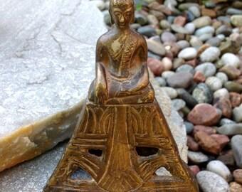 FREE SHIPPING-Antique Museum Quality China Tibetan Bronze Brass Seated Buddha-Solemn Meditating Statue-Sakyamuni-Shakyamuni-