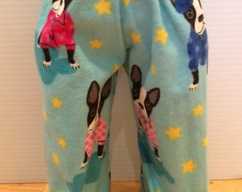 American Doll Puppy Dog Pajama pants, PJ flannel 18 inch Girl doll pants 18 inch doll clothes, 18 inch doll pajama pants by Sweet Pea Kidz