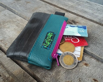 Eco friendly mini change purse - Recycled Bag - Bike Tube Wallet