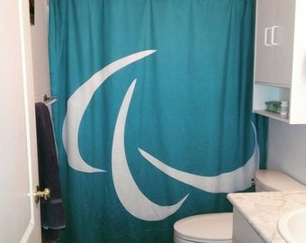 Shower Curtain - Recycled Vancouver 2010 Olympic Fence Wrapping - Olympic Shower Curtain