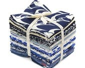 Cotton + Steel BLUEBIRD Fat Quarter Bundle 23 Precut Cotton Fabric Quilting FQs
