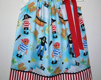 Girls Dress, Pillowcase Dress, Pirate Dress, Pirate Party, Pirate Clothes, baby dress, toddler dress, Girls Pirate Dress, Pirate Birthday