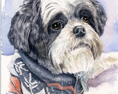 """Custom Watercolor Painting, Pet Portrait, Mother's Day, Wall Art, Art, Gift Idea, Gift For Her, 8"""" x10"""", Gift, Home Art, Pet Art, Home Decor"""