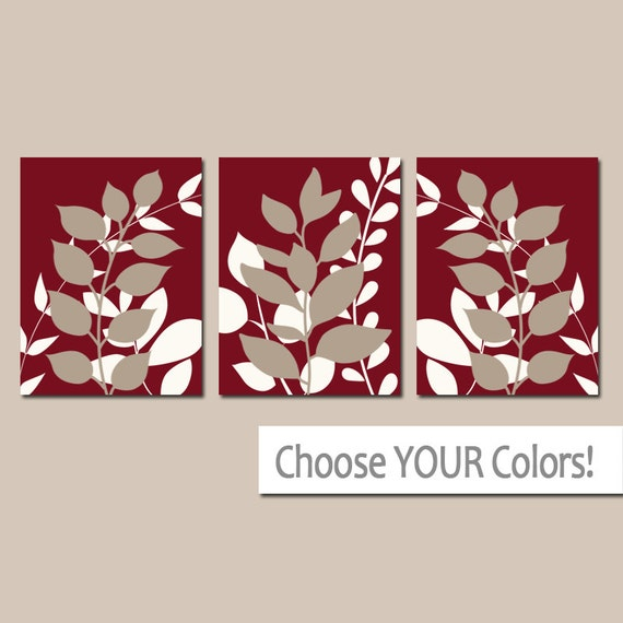 Wall Art Red Leaves : Dark red wall art bedroom pictures leaves canvas or prints