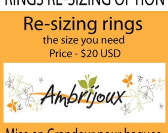 Re-sizing for Rings