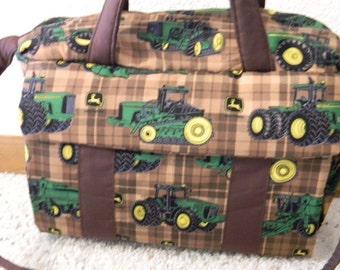Brown John Deere Diaper Bag w/change pad by EMIJANE