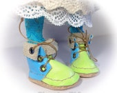 Fab hand dyed Blythe  boots