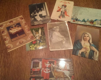 8 Assorted Vintage Postcards & Photos