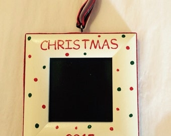 Christmas 2015 picture frame ornament