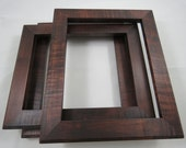Custom 8x10 Curly Maple Brown Mahogany Frame Order
