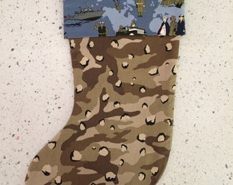 Christmas X'mas Stocking - Camouflage