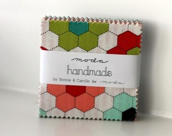 SALE 1 MINI charm pack HANDMADE Moda Fabric by bonnie & camille