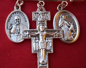 San Damiano Cross St Francis of Assisi Pope Francis Pin