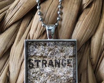 Strange Emo Punk Glass Pendant Necklace