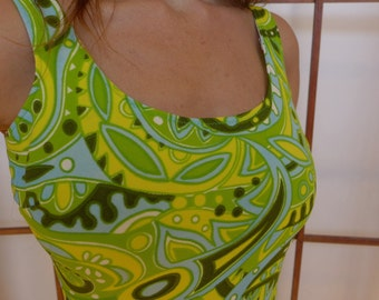 Vintage 60s Abstract Bathing Suit