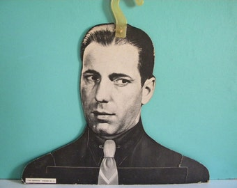 Vintage Humphrey Bogart Clothing Hanger Mod 1967 Mannequin Shop Display